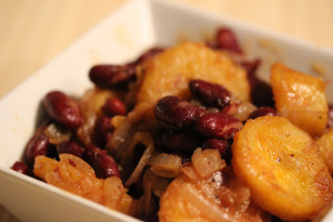 Burundi, with kidney beans and plantains