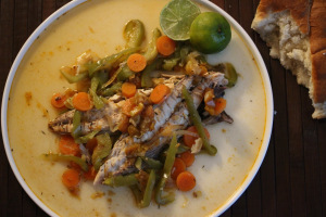 Jamaica and steamed fish