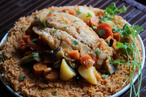Mauritania and Thieboudienne (fish with rice)