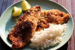 Nauru and coconut crusted fish