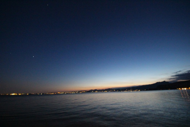 Lake of Garda by night