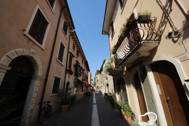 A street in the town centre of Bardolino