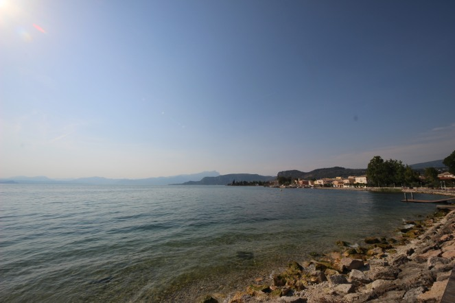 View of the lake with Bardolino in the distance