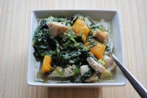 Papua New Guinea and Chicken and Greens in coconut milk
