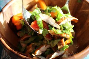 Seychelles and smoked fish salad