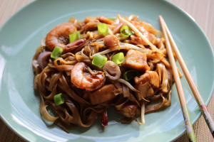 Singapore and Char kway teow