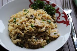 Slovenia and Buckwheat porridge with mushrooms