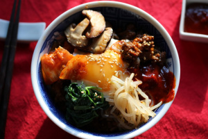 South Korea and Kimchi Bibimbap