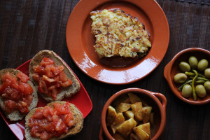 Spain and tortilla de patatas