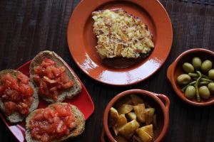 Spain and tortilla de patatas