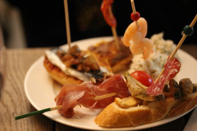 Pintxos on another plate