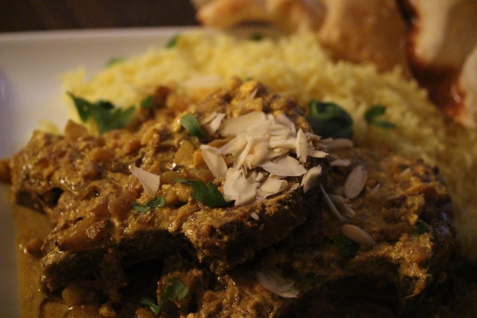 Indian Lamb Pasanda with Lemon Rice