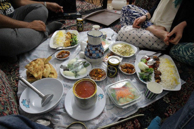 Persian lunch