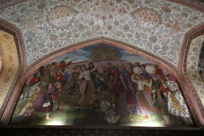 chehel sotun palace fresco