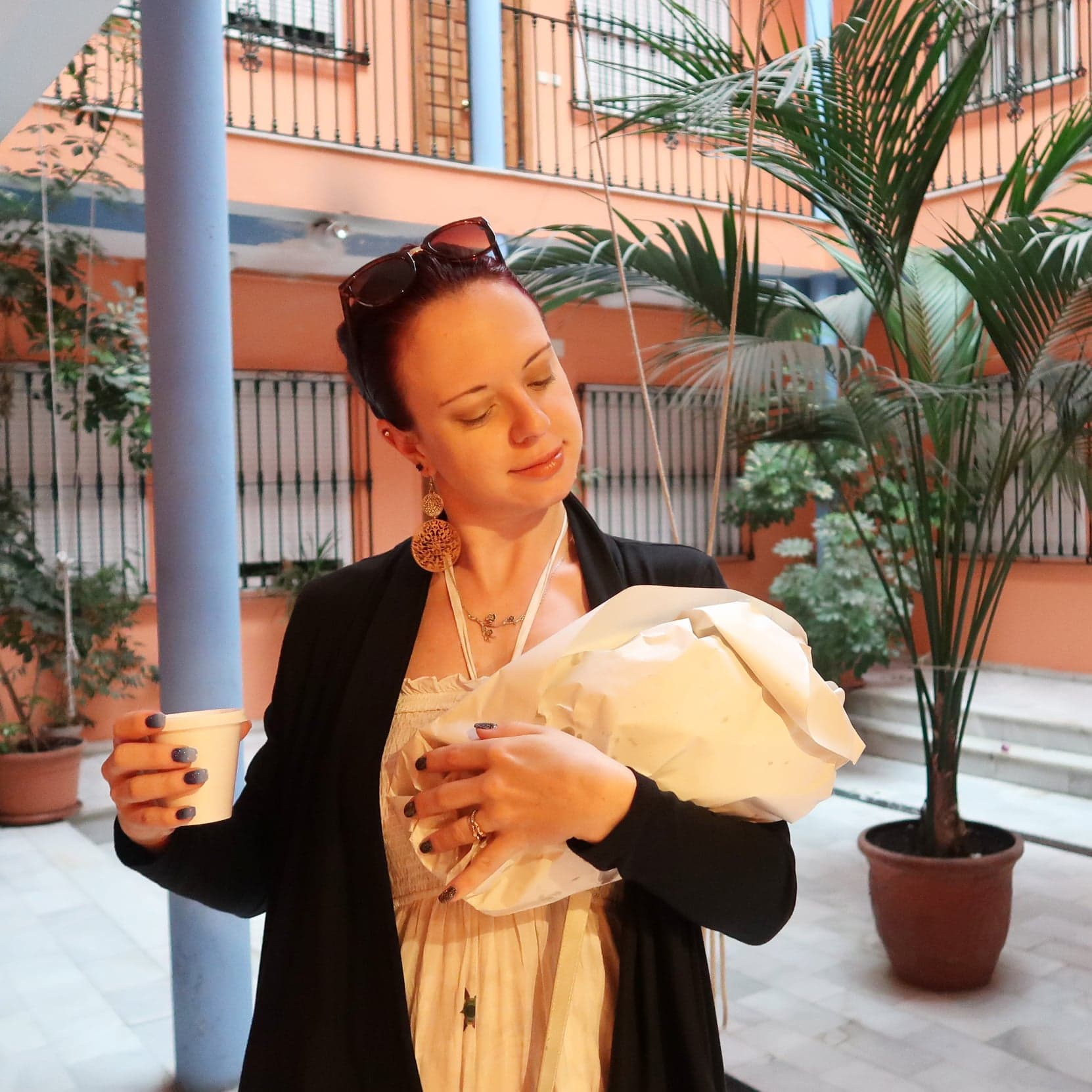 me holding churros