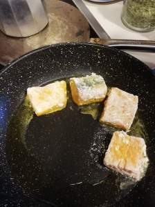 fish placed in pan