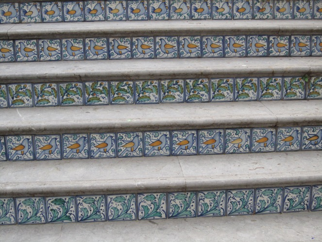 Tiles on the stairs or Cefalù