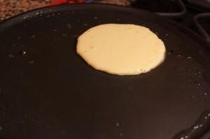 pancake on the pan