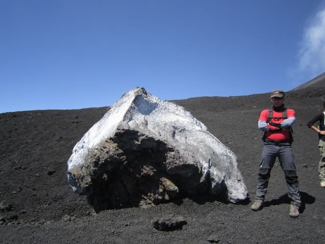 A volcanic bomb