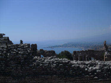View from the Theatre of Taormina