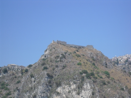 The castle as seen from Taormina