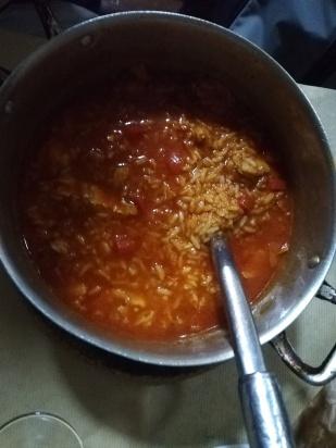 rice with bacalhau